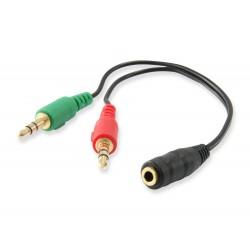 Equip - 147942 divisor de audio Negro
