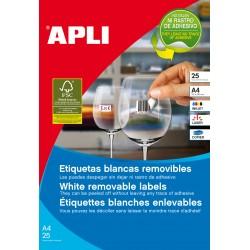 APLI - 10199 etiqueta de impresora Blanco Etiqueta para impresora autoadhesiva
