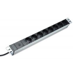 Digitus - DN-95410 base múltiple 2 m 8 salidas AC Negro