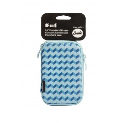 Smile - Funda de transporte para HDD 2.5'' Blue Geometric