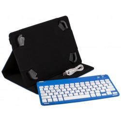 SilverHT - Funda Universal Gripcase + Teclado (9'' - 10.1'') Bluetooth v3.1