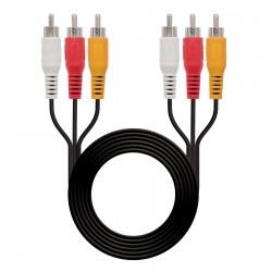 Nanocable - 10.24.0810 cable de vídeo compuesto 10 m 3 x RCA Negro