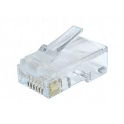Gembird - LC-8P8C-002/100 conector RJ-45 Transparente