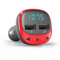 Energy Sistem - 44825 transmisor FM 87,5 - 108 MHz Encendedor de cigarrillos Rojo