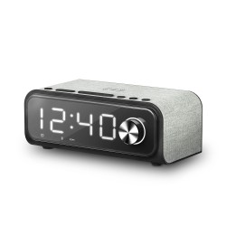 Energy Sistem - Clock Speaker 4 Reloj despertador digital Negro, Gris
