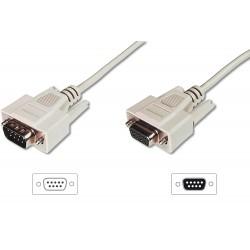 ASSMANN Electronic - D-Sub M/F 3m cable de serie Beige