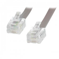 StarTech.com - 25 ft. RJ11 Telephone/Modem Cable 7,62 m Gris