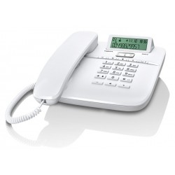 Gigaset - DA610 Teléfono analógico Blanco Identificador de llamadas