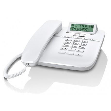 Gigaset - DA610 Teléfono analógico Identificador de llamadas Blanco