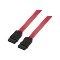 AISENS - A130-0153 cable de SATA 0,5 m SATA 7-pin Negro, Rojo