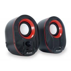 Equip - 245332 altavoz 3 W Negro, Rojo Alámbrico