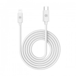 Celly - USBLIGHTTYPECWH cable de teléfono móvil Blanco USB C Lightning 1 m