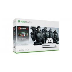 Microsoft - Xbox One S + Gears 5 Blanco 1000 GB Wifi