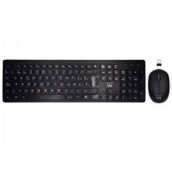 Ewent - EW3256 teclado RF inalámbrico QWERTY Español Negro