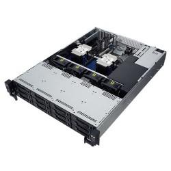 ASUS - RS520-E9-RS12 Intel® C621 LGA 3647 (Socket P) Bastidor (2U) Negro, Acero inoxidable