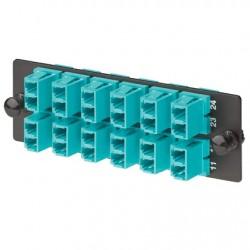 Panduit - FAP12WAQDLCZ adaptador de fibra óptica LC Negro