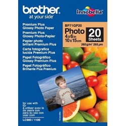 Brother - BP71GP20 Premium Glossy Photo Paper papel fotográfico Blanco