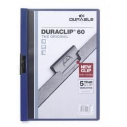 Durable - Duraclip 60 archivador Azul, Transparente PVC
