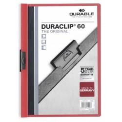 Durable - Duraclip 60 archivador Rojo, Transparente PVC