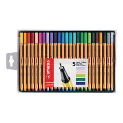STABILO - point 88 pluma estiligráfica Multicolor 25 pieza(s)