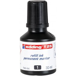 Edding - T 25 recambio para marcador Negro 30 ml 1 pieza(s)