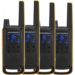 Motorola - Talkabout T82 Extreme Quad Pack two-way radios 16 canales Negro, Naranja