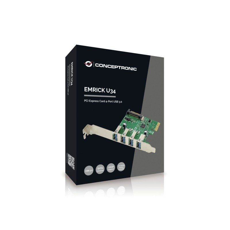 Conceptronic - EMRICK02G tarjeta y adaptador