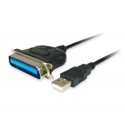 Equip - 133383 adaptador de cable USB 2.0 IEEE1284 Negro