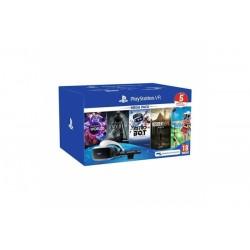Sony - PlayStation VR + 5 juegos + Camara V2 Pantalla con montura para sujetar en la cabeza Negro, Blanco 610 g