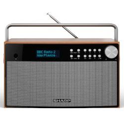 Sharp - SHARP DR-P355 RADIO ESTEREO DESPERTADOR PORTABLE CON SINTONIZADOR DAB, DAB+, FM Y BLUETOOTH MARRON