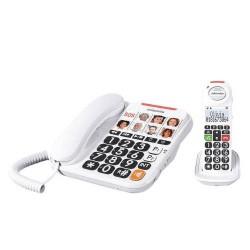 SwissVoice - TELÉFONO SENIOR INALÁMBRICO COMBO SWISSVOICE XTRA 3155 BLANCO