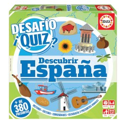 Educa - JUEGO DESAFIO QUIZ - DESCUBRIR ESPAÑA DE 6-99 AÑOS EDUCA BORRAS 18217