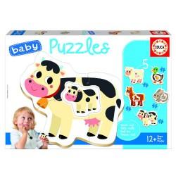 Educa - BABY PUZZLE ANIMALES DE LA GRANJA +12M EDUCA BORRAS 17574
