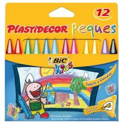 BIC - ESTUCHE 12 LAPICES PLASTICOS ESPECIALES PARA PEQUES PLASTIDECOR FORMA TRIANGULAR PLASTIDECOR 8757741
