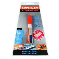 Supergen - ADHESIVO INSTANTANEO SUPERRAPID TRANSPARENTE EN TUBO 3GR. SUPERGEN 62603-00000-00