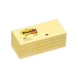 Post-It - PACK 12 BLOC DE NOTAS ADHESIVAS AMARILLAS 100 HOJAS (38X51) POST-IT 3M653