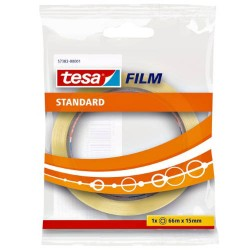TESA - CINTA ADHESIVA STANDARD 15MM.X66M.EN BOLSITA TRANSPARENTE TESA 57382-00001-01