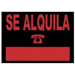 Archivo 2000 - 6168 NE señal de información Carta Negro, Rojo PVC 5 pieza(s)
