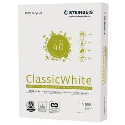 Steinbeis - PAQUETE 500 HOJAS PAPEL RECICLADO A4 CLASSIC WHITE 80GR. ISO70 STEINBEIS 141688