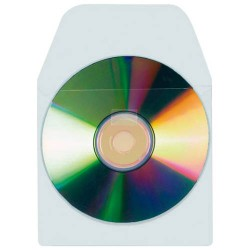 3L - CD/DVD Pockets with flap Funda 1 discos Blanco