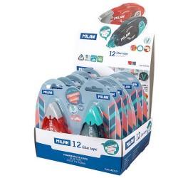 Milan - 44GT12 cinta adhesiva 12 m Azul, Rojo 12 pieza(s)