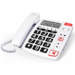 SwissVoice - TELÉFONO SENIOR CON CABLE SWISSVOICE XTRA11500 BLANCO