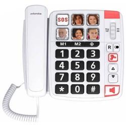 SwissVoice - TELÉFONO SENIOR CON CABLE SWISSVOICE XTRA1110 BLANCO