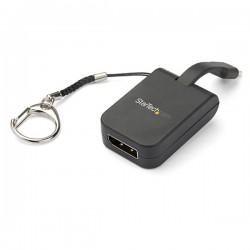 StarTech.com - Adaptador Portátil USB-C a DisplayPort con Llavero de Conexión Rápida