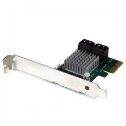 StarTech.com - Tarjeta Adaptadora Controladora PCI Express PCI-E SATA 3 III 6Gbps RAID 4 Puertos con HyperDuo