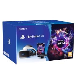 Sony - PlayStation VR MK4 + VR Worlds Pantalla con montura para sujetar en la cabeza Negro, Blanco 610 g