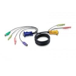 Aten - 2L5303P cable para video, teclado y ratón (kvm) 3 m Negro
