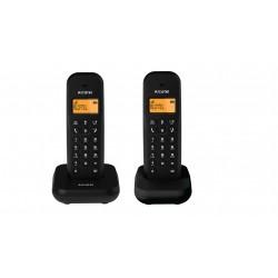 Alcatel - E155 Duo Teléfono DECT/analógico Negro Identificador de llamadas