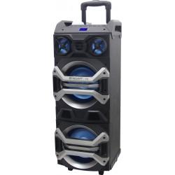 Brigmton - BAP900 120 W Sistema de megafonía con ruedas Negro