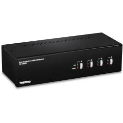 Trendnet - TK-440DP interruptor KVM Negro, Plata